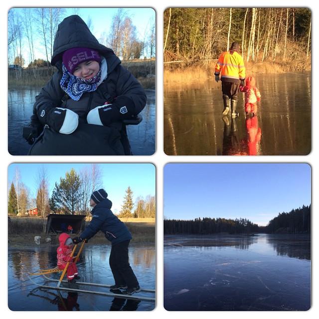 Underbar dag på isen